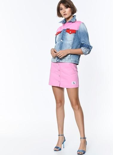 Calvin Klein Jean Ceket Pembe